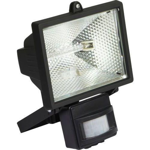 Halogenový reflektor s pohybovým čidlem, 500 W, černý