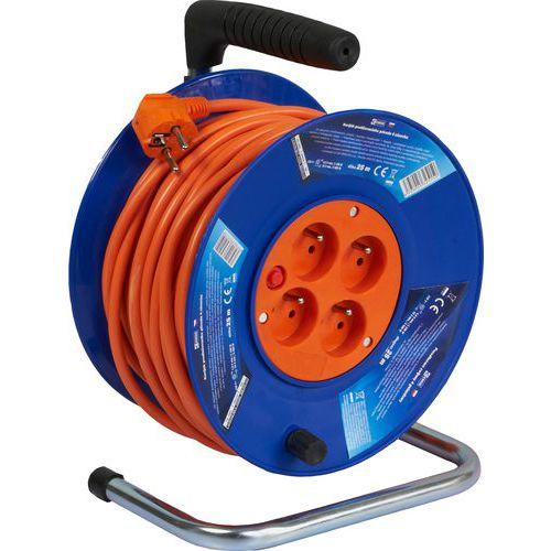 Plastový prodlužovací kabel na bubnu se čtyřmi zásuvky, 25 m