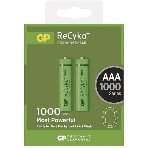 Nabíjecí baterie GP NiMH 1000 mAh R03 (AAA, mikrotužka)