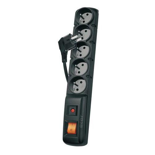 Prodlužovací kabel s přepěťovou ochranou Emos, 5 zásuvek, 1,5 m
