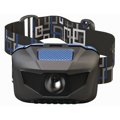 LED čelovka s reflexním páskem, dosvit 65 m