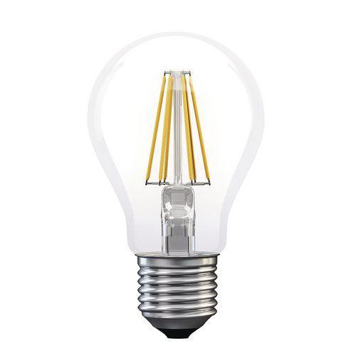 LED žárovka Filament A60, 6 W, patice E27