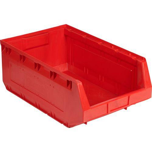 Plastový box Manutan 19 x 30,3 x 48,5 cm, červený