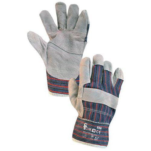 Kožené rukavice CXS, šedé/modré