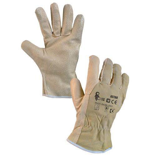 Kožené rukavice CXS, béžové