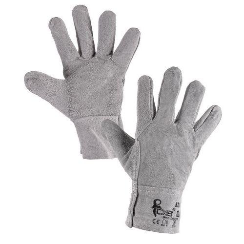 Kožené rukavice CXS, šedé