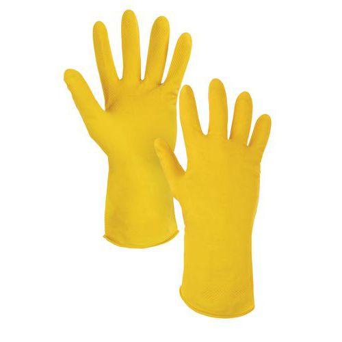 Latexové rukavice CXS, žluté