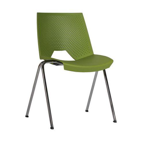 Plastová jídelní židle Strike, světle zelená