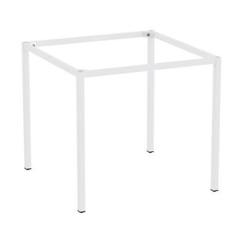 Rám a nohy pro jídelní stůl Versys, 800x800 mm, bílá RAL9003