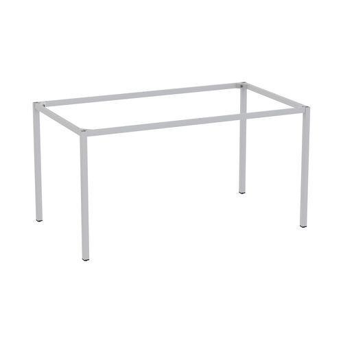 Rám a nohy pro jídelní stůl Versys, 1400x800 mm, stříbrná RAL9006 - Prodloužená záruka na 10 let
