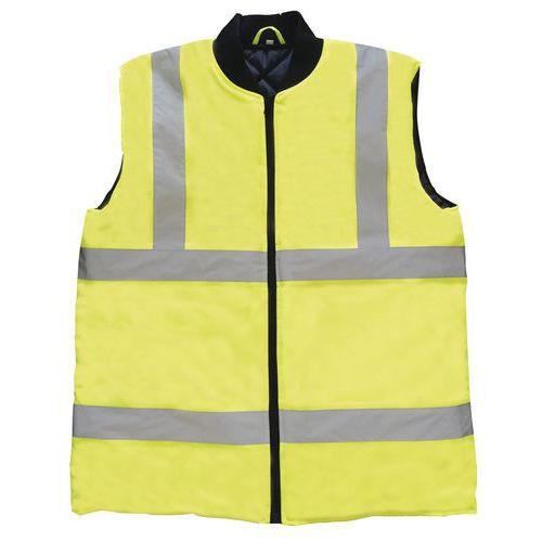 Zimní reflexní vesta Manutan M, žlutá