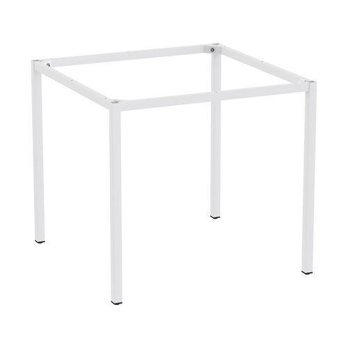 Rám a nohy pro jídelní stůl Versys, 800x800 mm, světle šedá RAL7