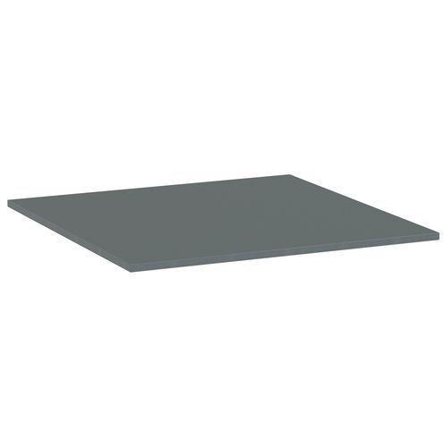Deska jídelního stolu Versys, 800x800x18 mm, ABS 2 mm, tmavě šed