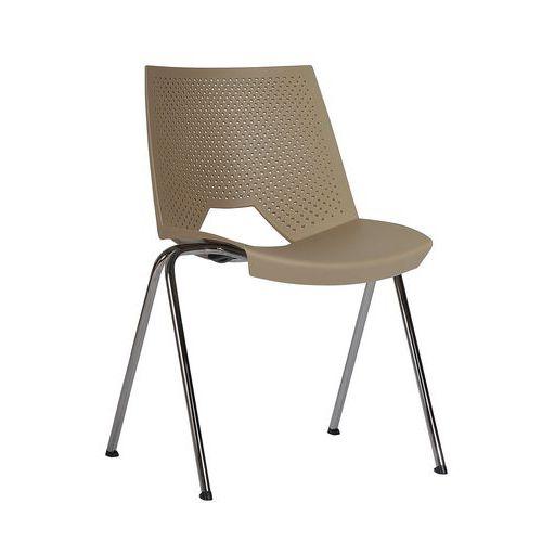 Plastová jídelní židle Strike, béžová