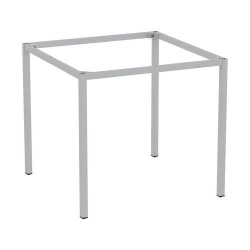 Rám a nohy pro jídelní stůl Versys, 800x800 mm, stříbrná RAL9006