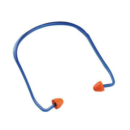 Špunty do uší Manutan s páskem, útlum 24 dB, 100 ks