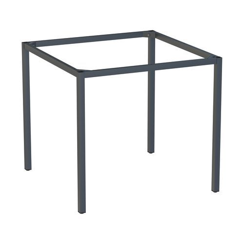 Rám a nohy pro jídelní stůl Versys, 800x800 mm, antracit RAL7016
