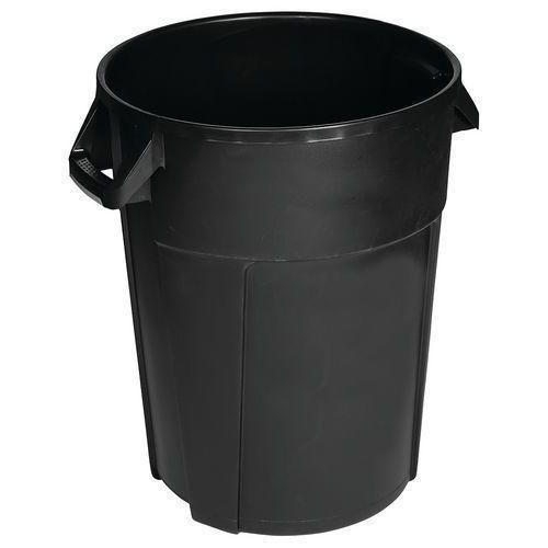 Plastový odpadkový koš Manutan Pure, objem 120 l, černá