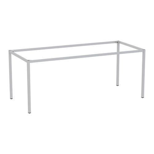 Rám a nohy pro jídelní stůl Versys, 1800x800 mm, stříbrná RAL9006 - Prodloužená záruka na 10 let