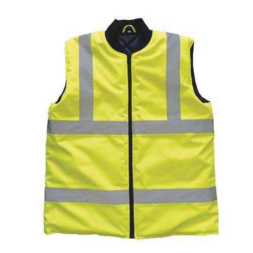 Zimní reflexní vesta Manutan XL, žlutá