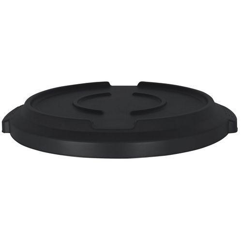 Víko na plastové odpadkové koše Manutan Pure, 120 l, černé
