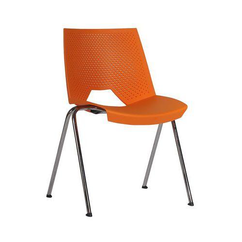 Plastová jídelní židle Strike, oranžová