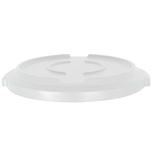 Víko na plastové odpadkové koše Manutan Pure, 120 l, bílé - Prodloužená záruka na 10 let