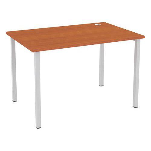 Kancelářský stůl Abonent, 120 x 80 x 75 cm, rovné provedení, dezén třešeň Oxford
