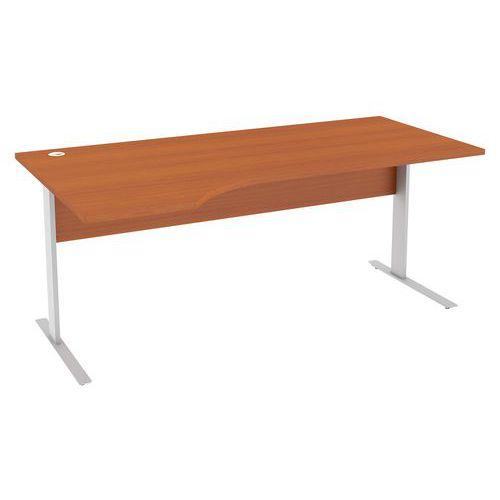 Ergo kancelářský stůl Abonent, 180 x 100 x 75 cm, levé provedení, dezén třešeň Oxford - Prodloužená záruka na 10 let