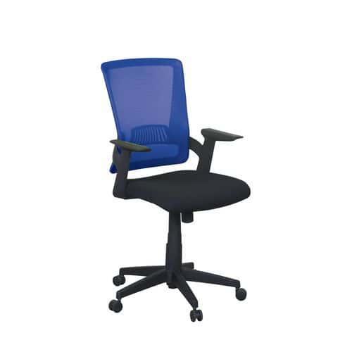 Kancelářská židle Eva, síť, černá/modrá