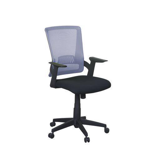 Kancelářská židle Eva, síť, černá/šedá