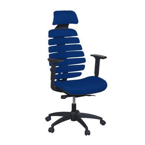 Kancelářská židle Jane, látka, černá/modrá