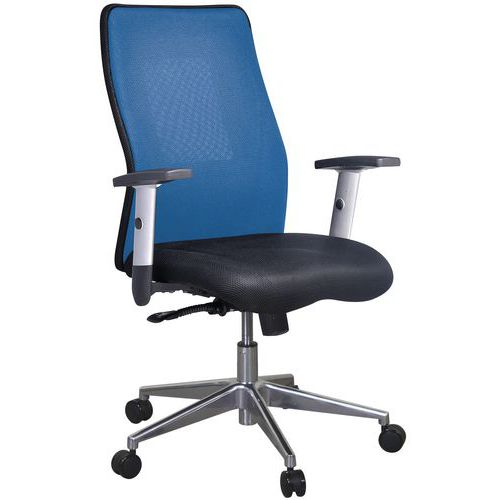 Kancelářská židle Penelope Alu, modrá