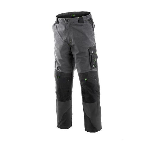 Pánské prodloužené kalhoty do pasu SIRIUS NIKOLAS, šedo-zelené