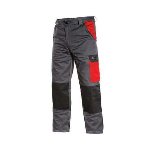 Pánské kalhoty PHOENIX CEFEUS, šedo-červené, vel. 62
