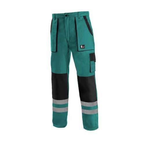 Kalhoty CXS LUXY BRIGHT, pánské, zeleno-černé, vel. 62