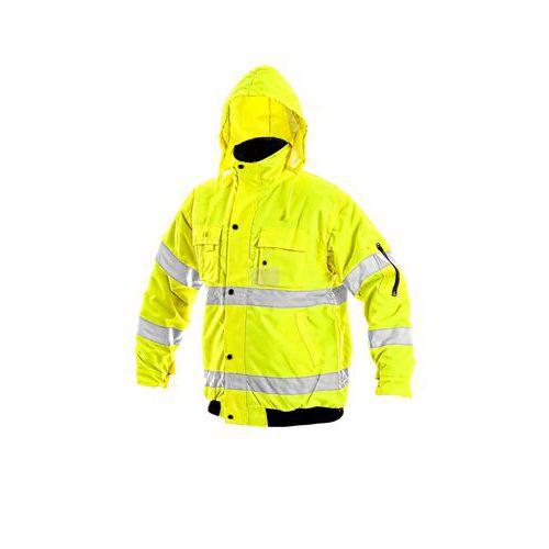 Leeds pánská reflexní bunda zimní žlutá