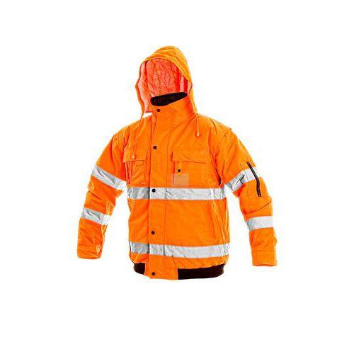 CANIS Pánská reflexní bunda LEEDS zimní oranžová