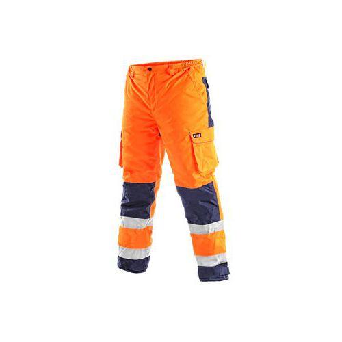 Pánské reflexní kalhoty CARDIFF, zimní, oranžové