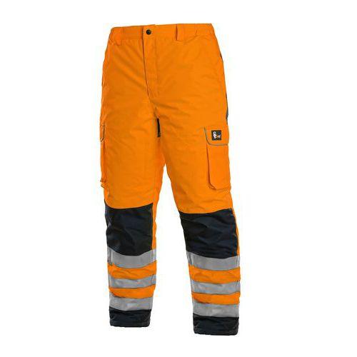 Kalhoty CARDIFF, výstražné, zateplené, pánské, oranžové, vel.S