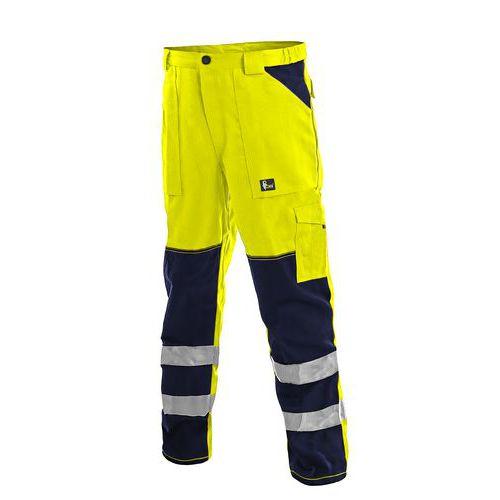 Kalhoty CXS NORWICH, výstražné, pánské, žluto-modré, vel. 62