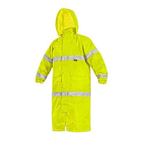 Plášť BATH, výstražný, žlutý, S-3XL