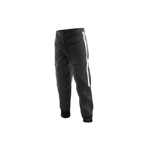 Pánské fárací kalhoty HORNÍK, se stříbrnými pruhy, černé
