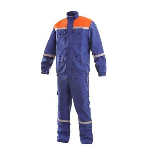 Pánská antistatická souprava ENERGETIK, modro-oranžová, vel. 48