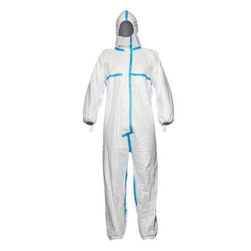 Jednorázový oblek TYVEK CLASSIC PLUS, bílo-modrý