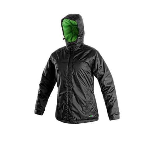 Dámská zimní bunda KENOVA, černo-zelená, vel. M