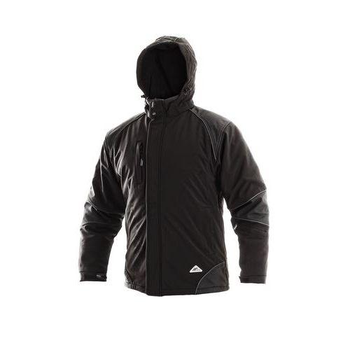 Pánská zimní softshellová bunda CXS s reflexními prvky, černá