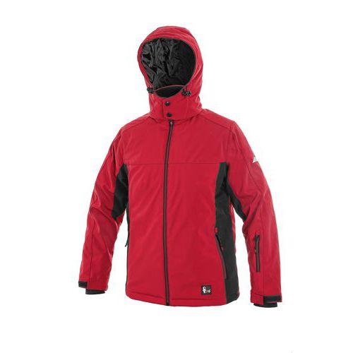 Bunda VEGAS, zimní, dětská, červeno-černá, vel. 170