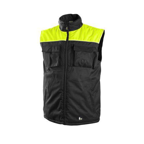 Pánská zimní vesta SEATTLE, fleece, černo-žlutá, vel. XL