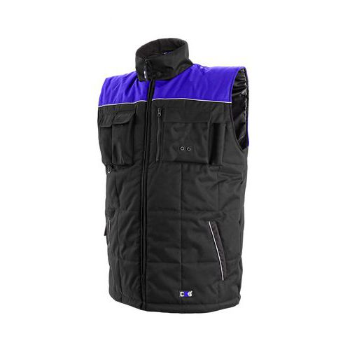 Pánská zimní vesta SEATLE, černo-modrá, vel. XL